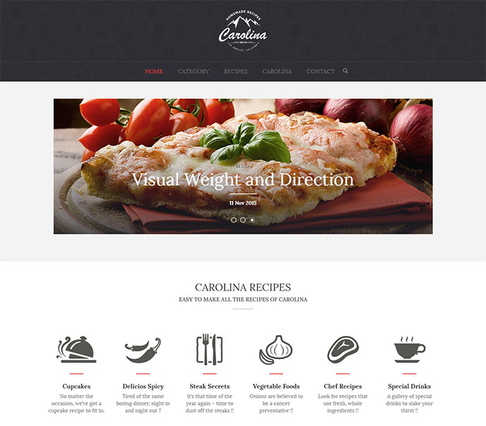 Homemade recipes WordPress theme designed for all kind of food purpose
