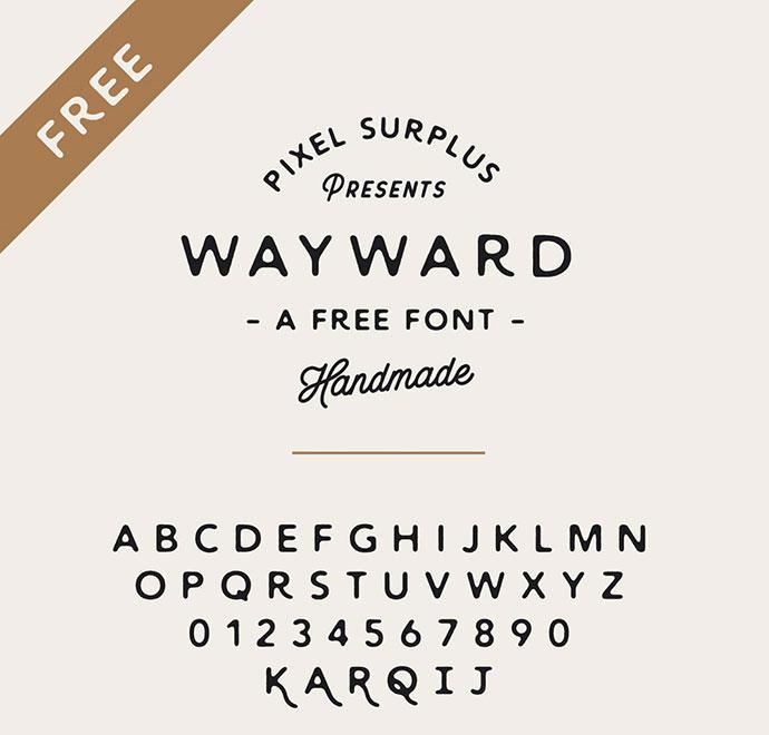 WAYWARD - FREE FONT