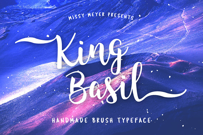 King Basil - handmade connecting brush font