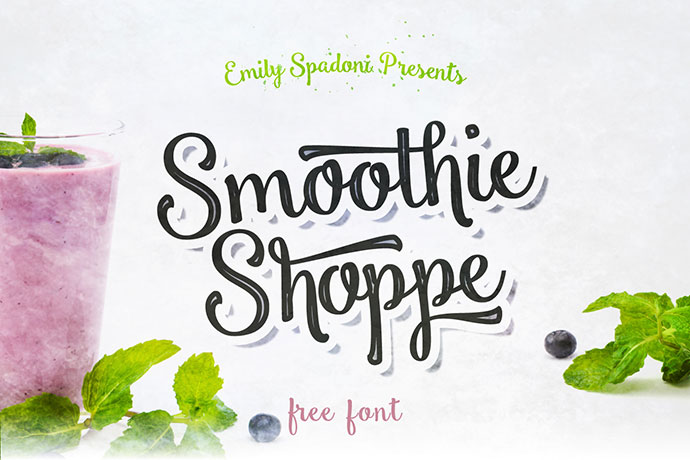 Smoothie Shoppe - Free Script Font
