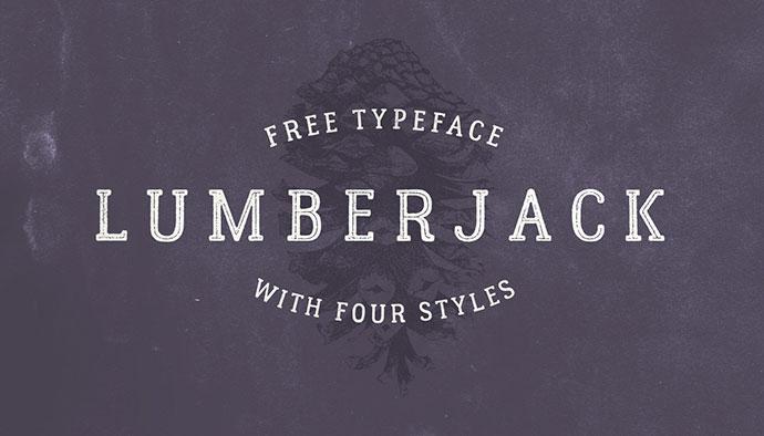 Lumberjack. Free font.