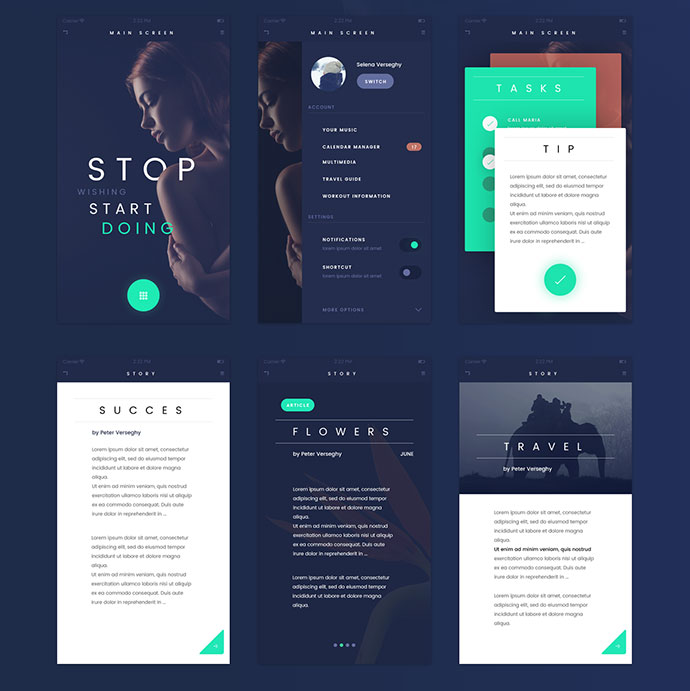 25 Awesome Free Web & Mobile UI Kits 2016 – Bashooka