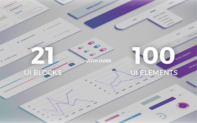 EarthShift — UI Kit | FREE PSD