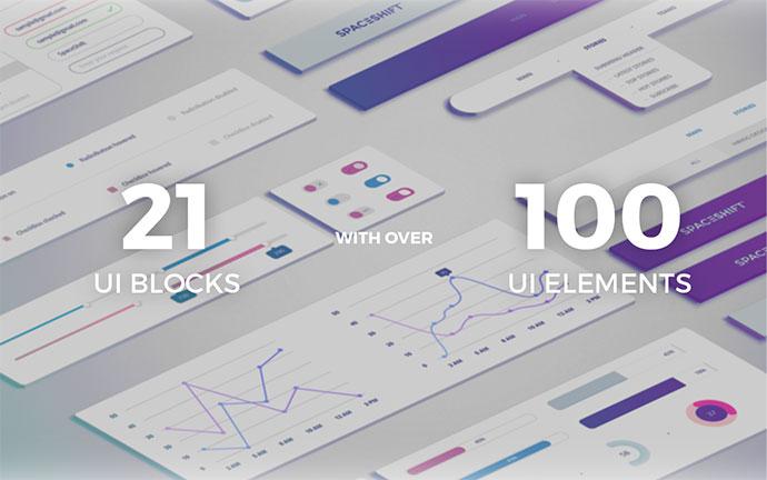 EarthShift — UI Kit | FREE PSD