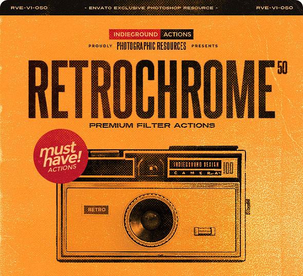 RetroChrome - 50 Vintage Photo Effect Actions
