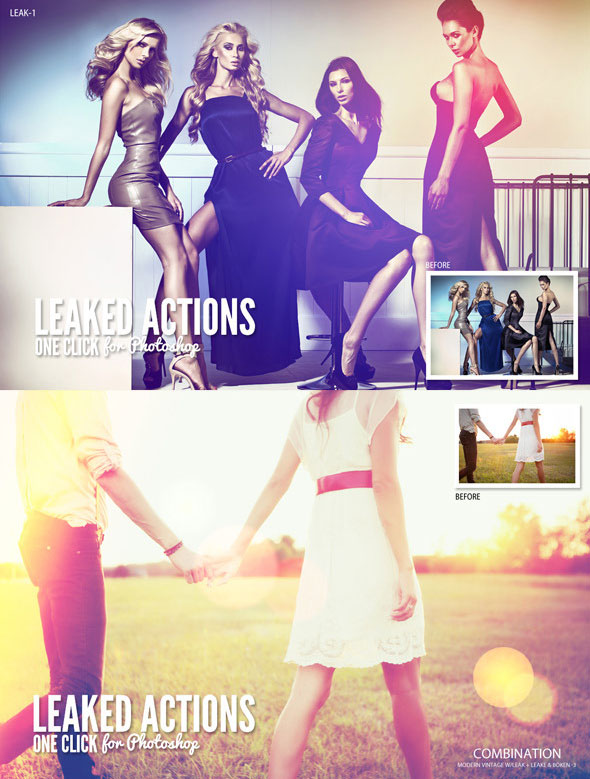 Leaked Photoshop Actions Series One