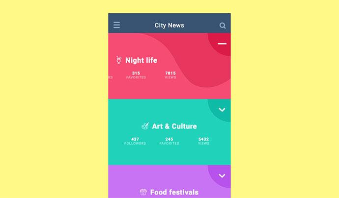 SVG UI Navigation Concept