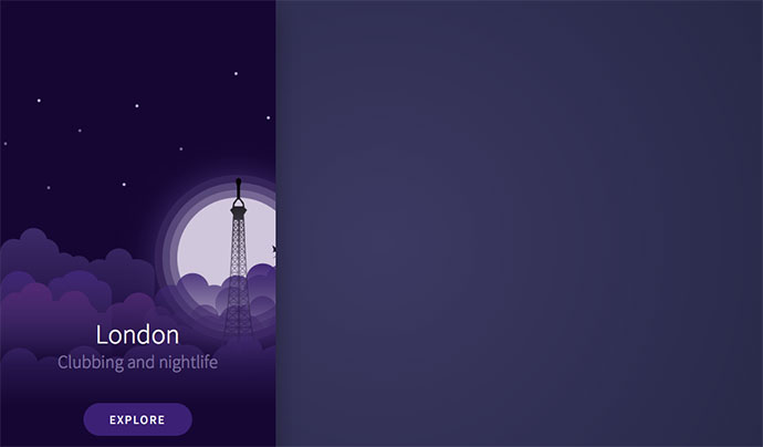 City Intro Card SVG animation - Dribbble inspired