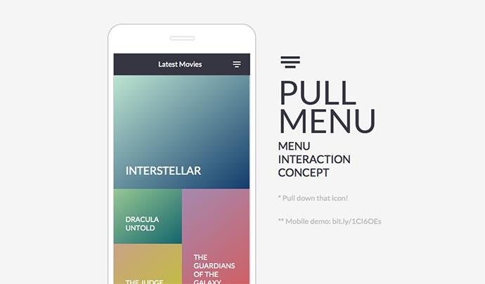 Pull Menu - Menu Interaction Concept