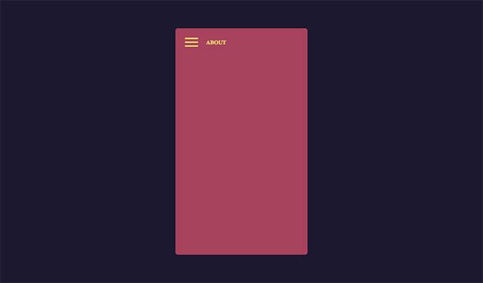 Cards Menu Concept