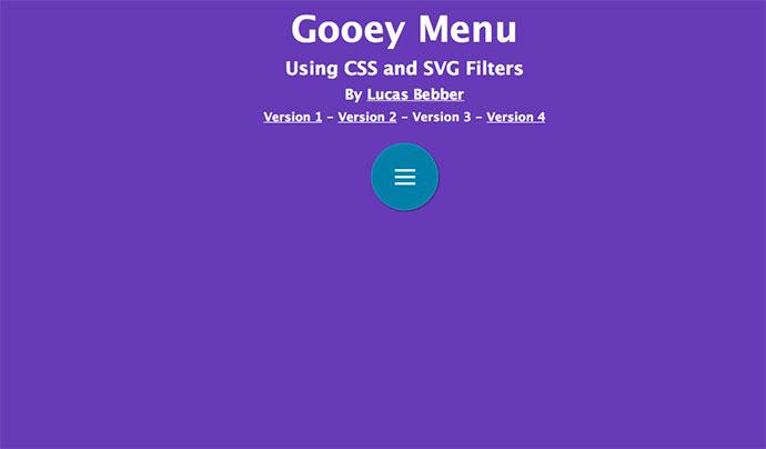 CSS Gooey Menu (Version 3)