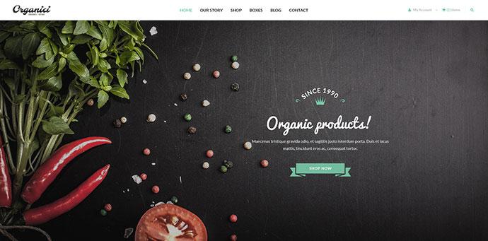 Organici - Organic Store PSD Template