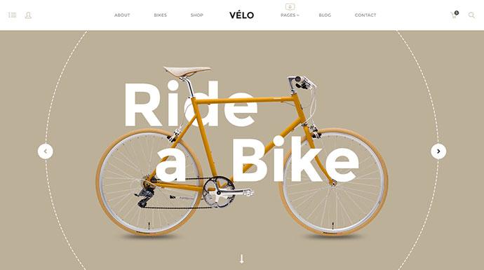 Velo - Stunning Bike Store eCommerce PSD Template