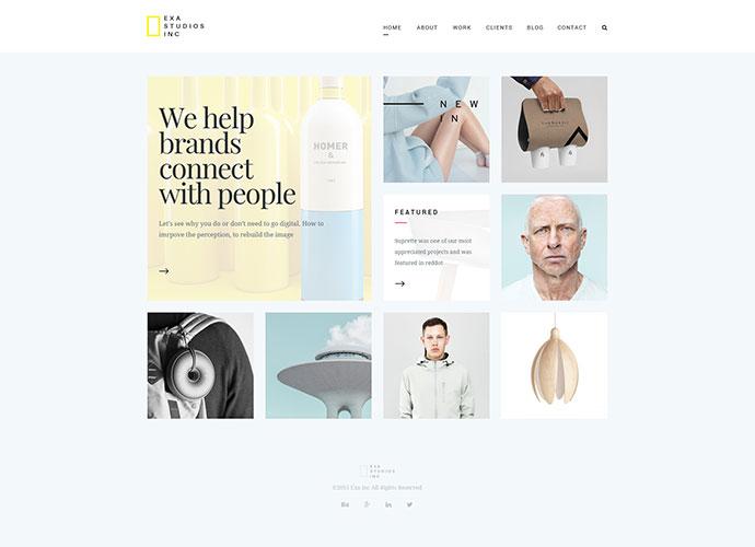 Exa -Agency/Freelancer Creative Portfolio Template