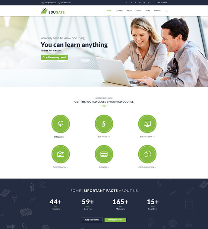 EduGate - Multiconcept Education PSD template
