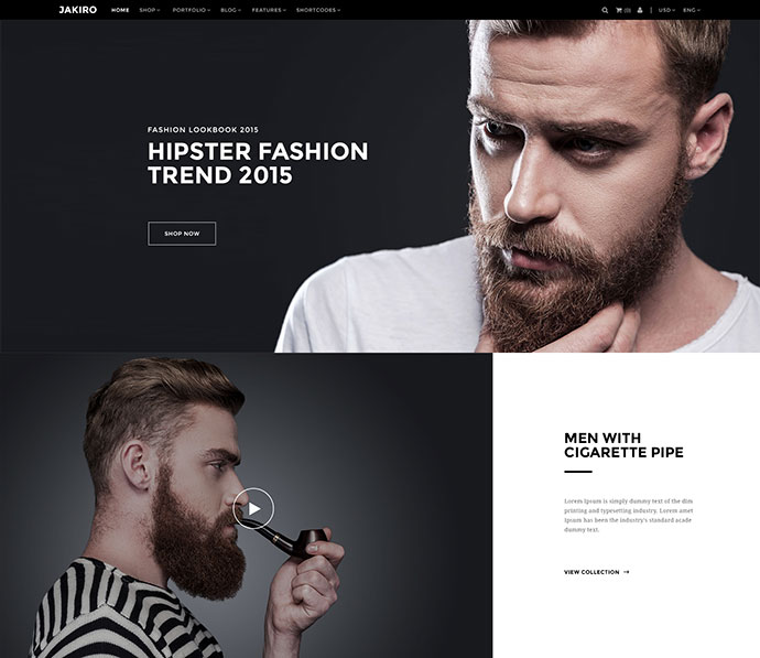 Jakiro - Fashion PSD Template