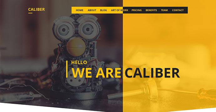 Caliber - Creative Multi Purpose PSD Template
