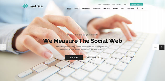 Metrics - SEO & Marketing Business PSD Template