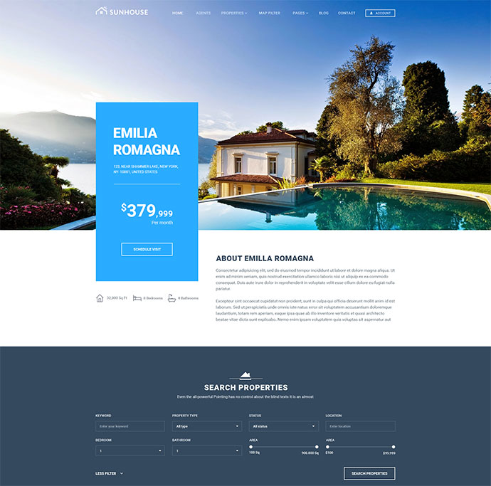 SunHouse - Multiconcept Real Estate PSD Template