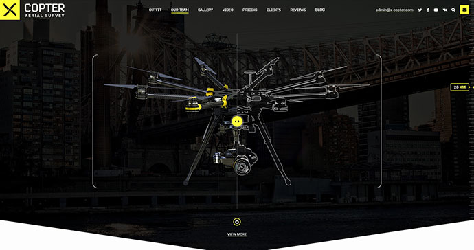X-Copter - Best Photo & Video Company PSD Template