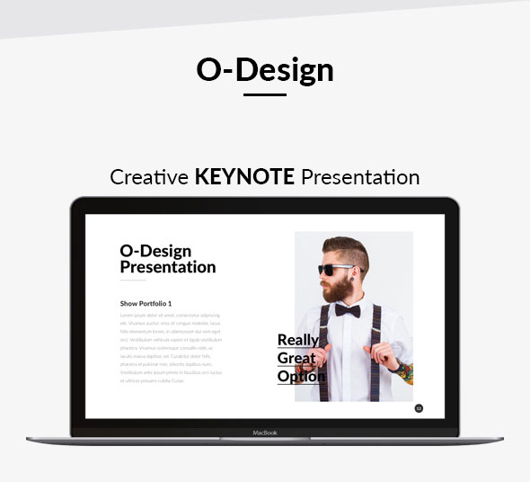 o design creative keynote presentation