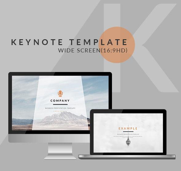 Orange - Clean trend business Keynote Template