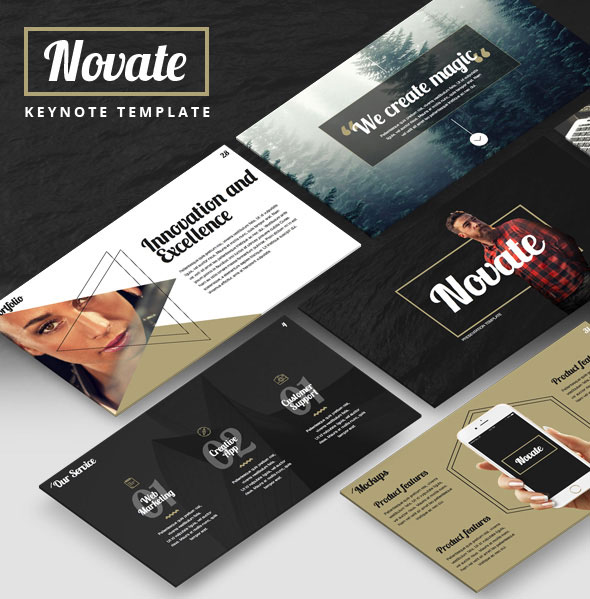 NOVATE - Creative Keynote Presentation Template