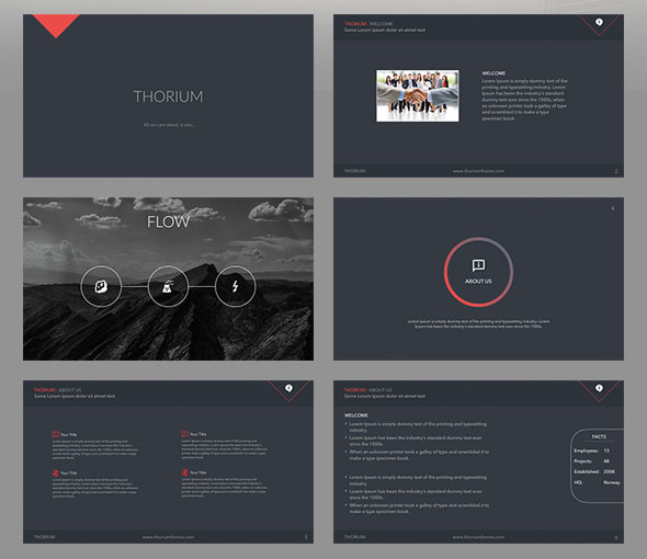 Thorium - Keynote Presentation Template
