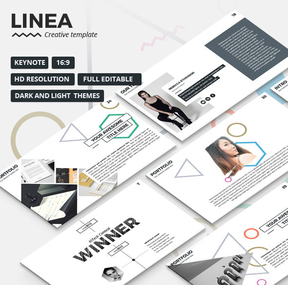 Linea - Creative Keynote Presentation Template