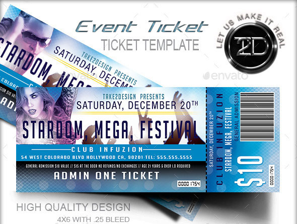 Event Ticket Template. EventTicketTemplateForFree The Best Event ...