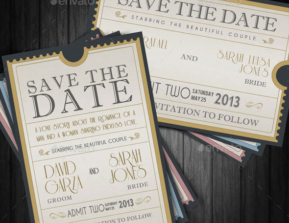 Save The Date - Admission Ticket