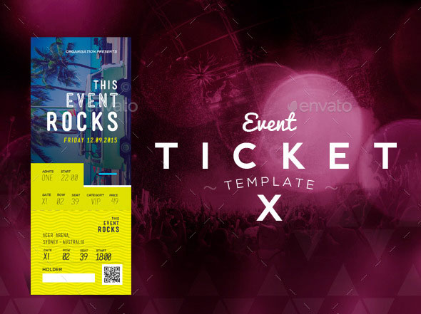 Event Tickets Template 10