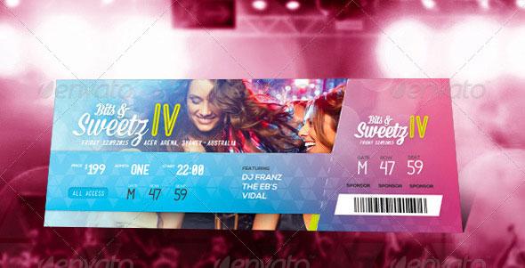 25 awesome psd ticket invitation design templates  u2013 bashooka