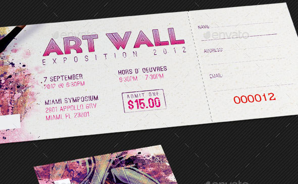 Art Expo Ticket Event Pass Template