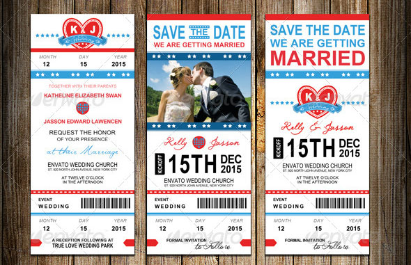 Wedding Invitation Package - Sports Pass