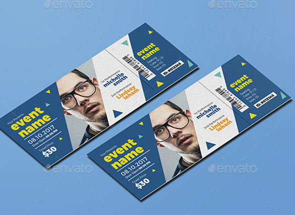 25 awesome ticket invitation design templates web graphic design
