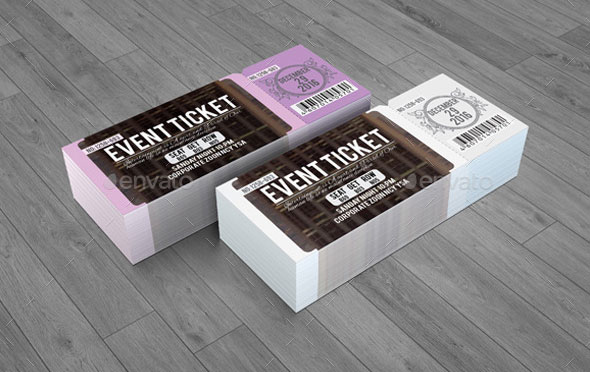 Awesome Ticket Invitation Design Templates Web Graphic Design - Event ticket template photoshop
