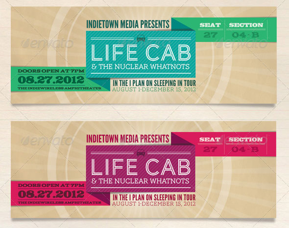 25 Awesome PSD Ticket Invitation Design Templates – Web ...