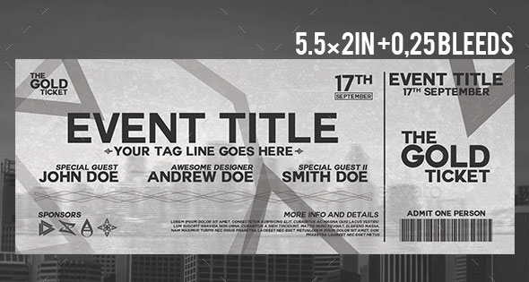 25 Awesome PSD Ticket Invitation Design Templates – Web ...
