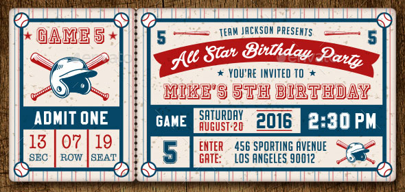 25 Awesome Ticket Invitation Design Templates – Sports Ticket Template