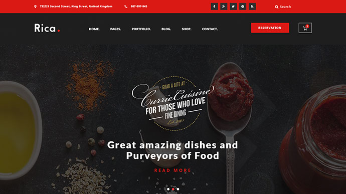 Rica - Multipurpose Restaurant & Cafe HTML Template