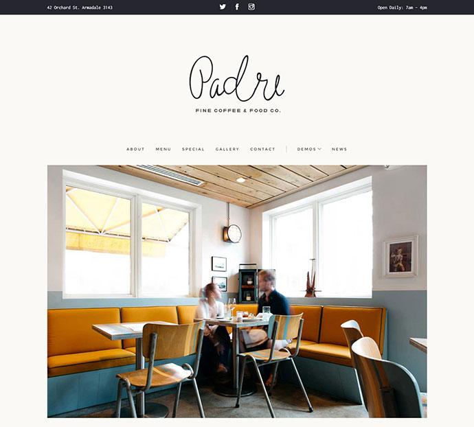 Padre - Cafe & Restaurant + Variant Page Builder