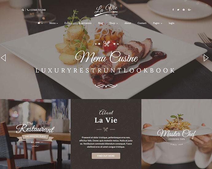25 best html food restaurant website templates web graphic