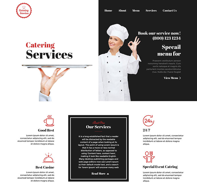 25 Best HTML Food & Restaurant Website Templates | Web & Graphic ...