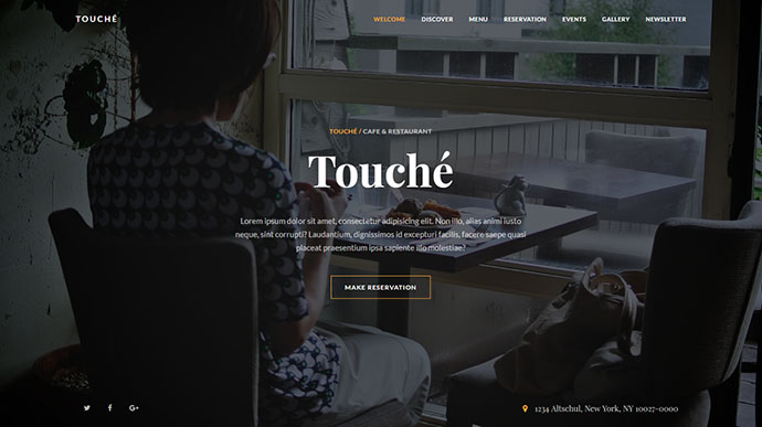 Touche - Responsive Restaurant Template