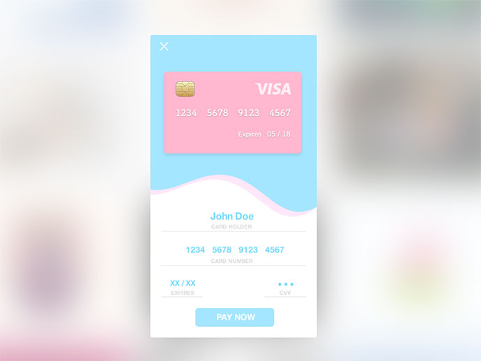 Daily UI - Day 002 (Credit Card Checkout)