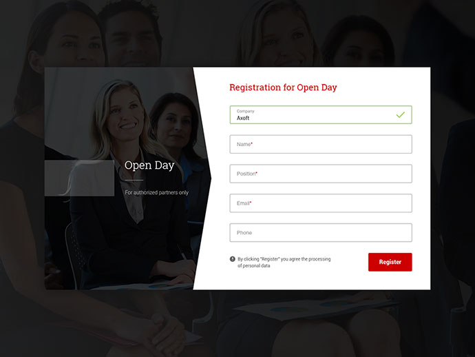 Registration for Open Day