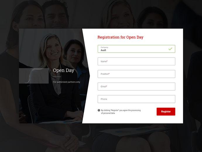 Registration for Open Day