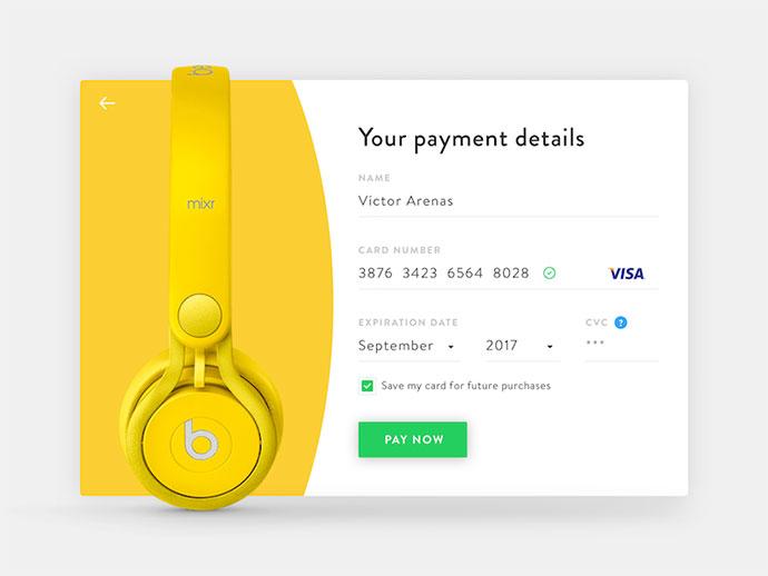 Daily UI 002 - Credit Card