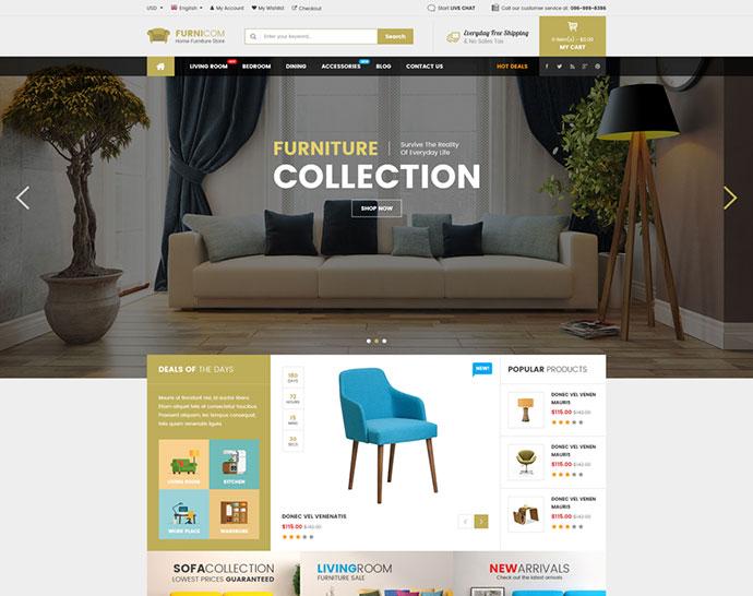 Furnicom - Responsive Furniture WooCommerce WordPress Theme